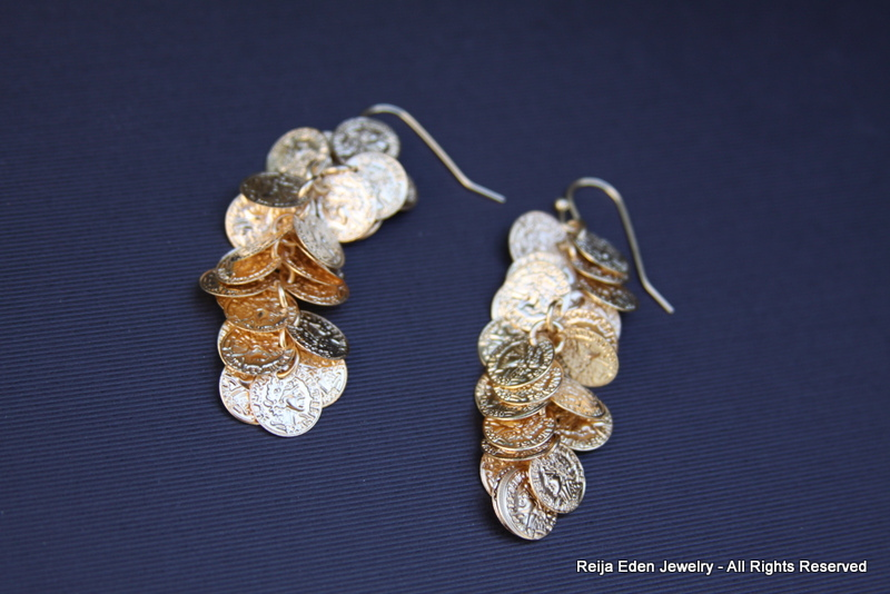 handmade trendy cascade earrings