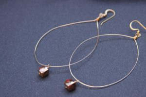 Large Hoop Pyrite Earrings