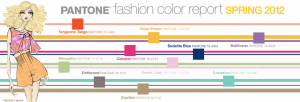 Pantone spring 2012 color palette