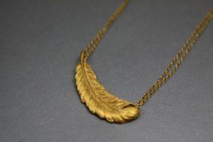 Handmade Gold Leaf Necklace