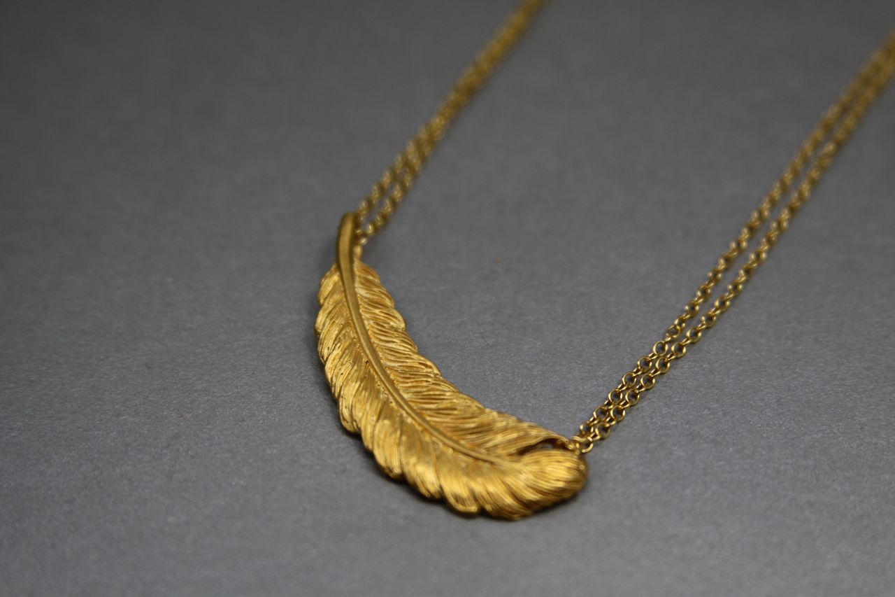 Handmade Gold Leaf Necklace
