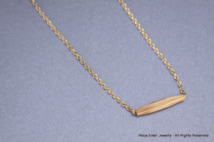 handmade brass tube necklace