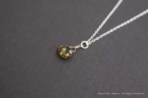 olive topaz necklace
