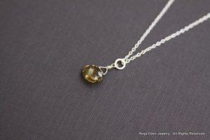 olive topaz necklace