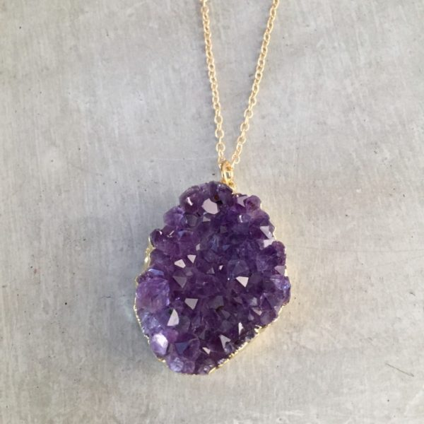 gold amethyst necklace