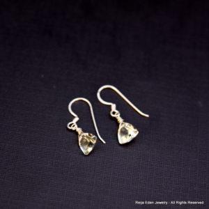 handmade green amethyst earrings
