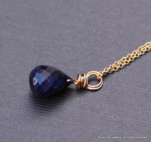handmade sapphire necklace