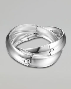 interlocking silver bracelet