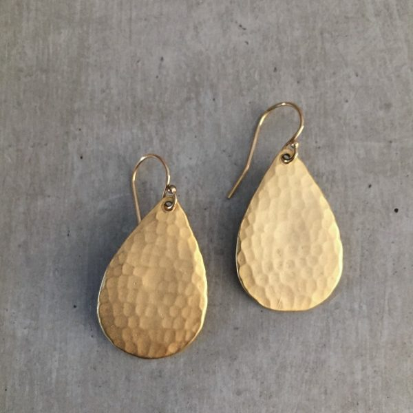 hammered gold earrings