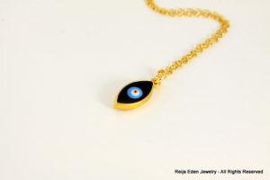 gold evil eye necklace