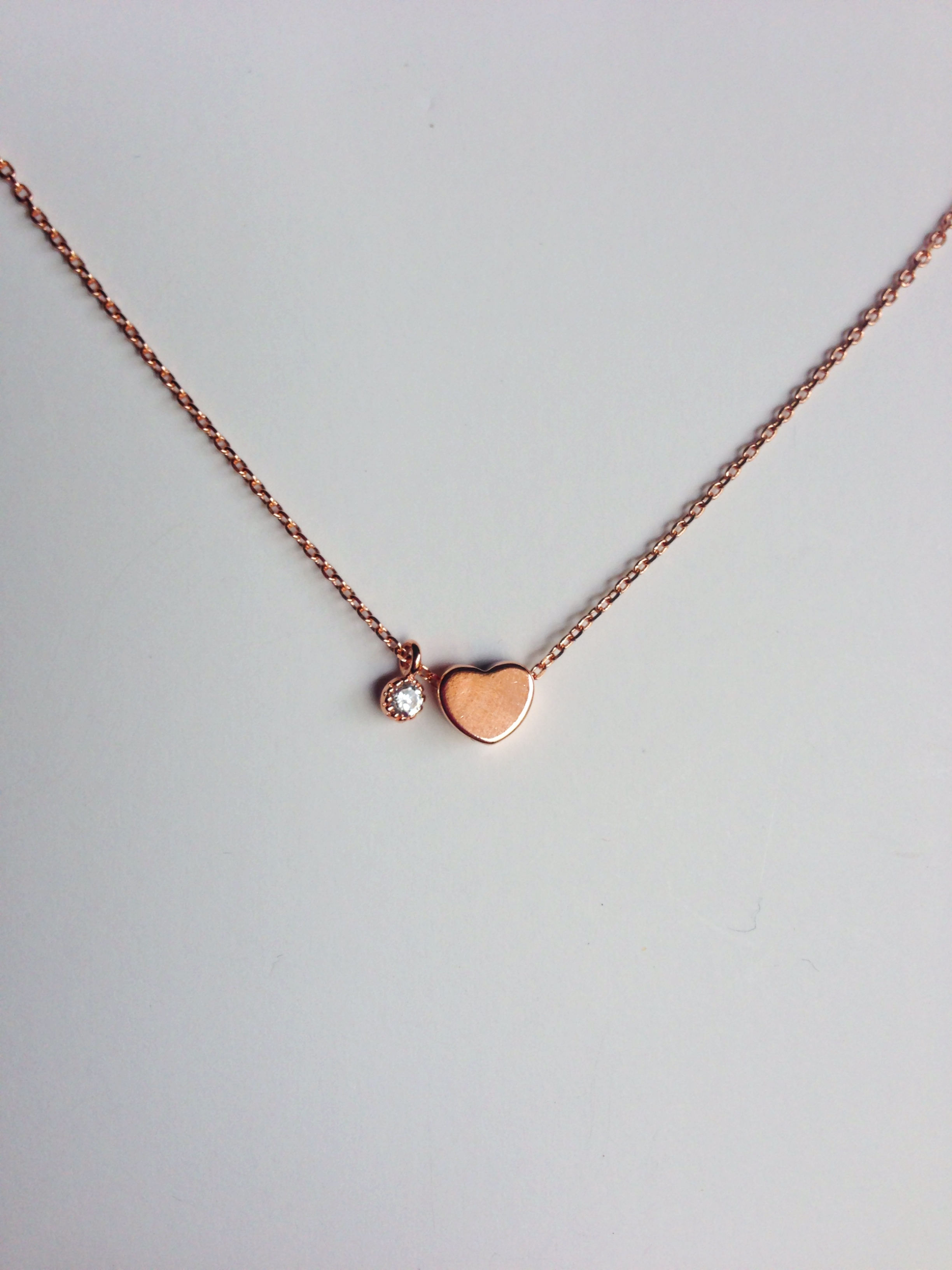 Heart Necklace Rose Gold Reija Eden Jewelry