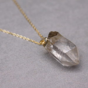 crystal quartz necklace