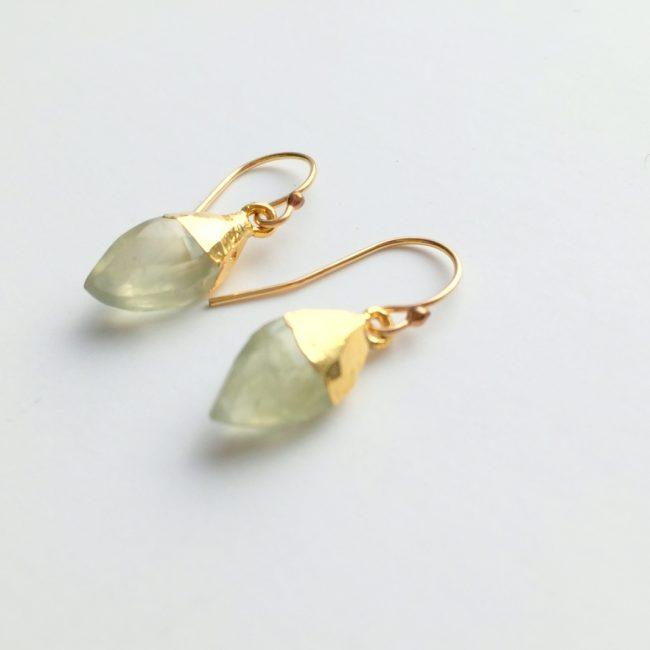 perhnite gemstone earrings
