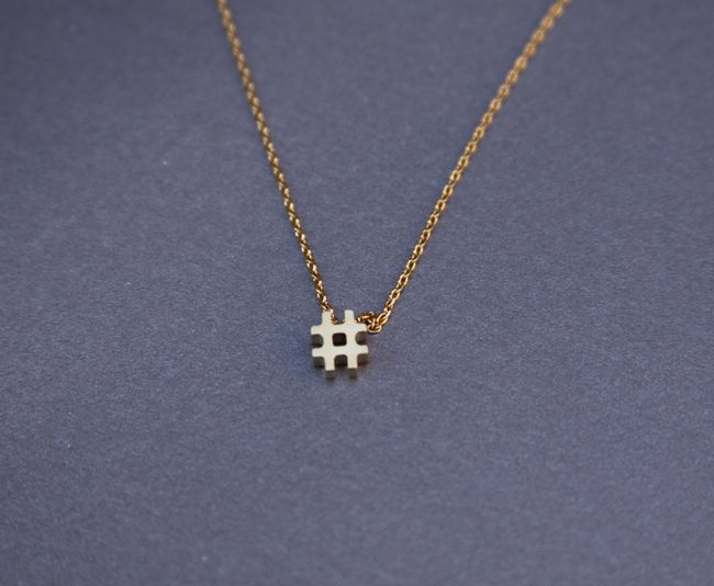 hashtag necklace