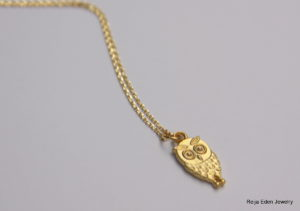 small owl charm necklace