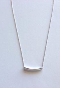 silver bad necklace