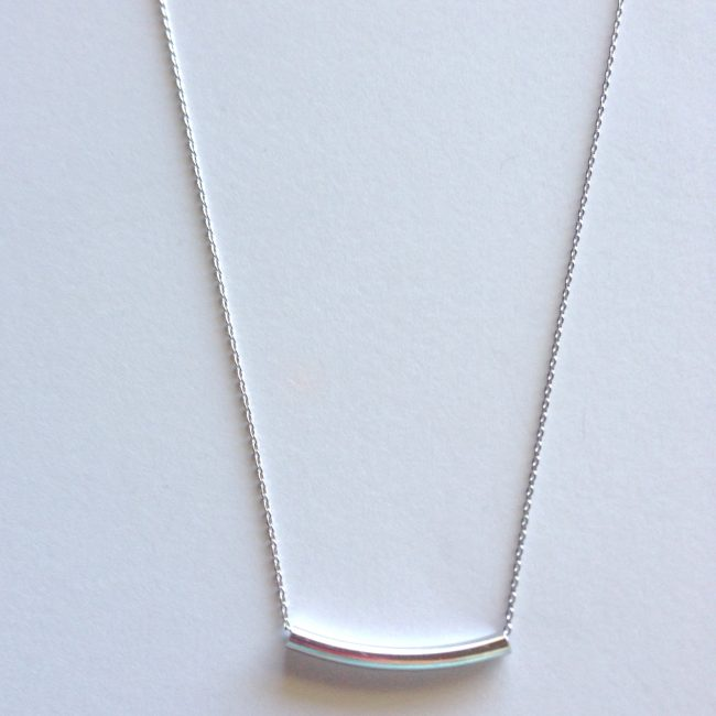 silver bad necklace