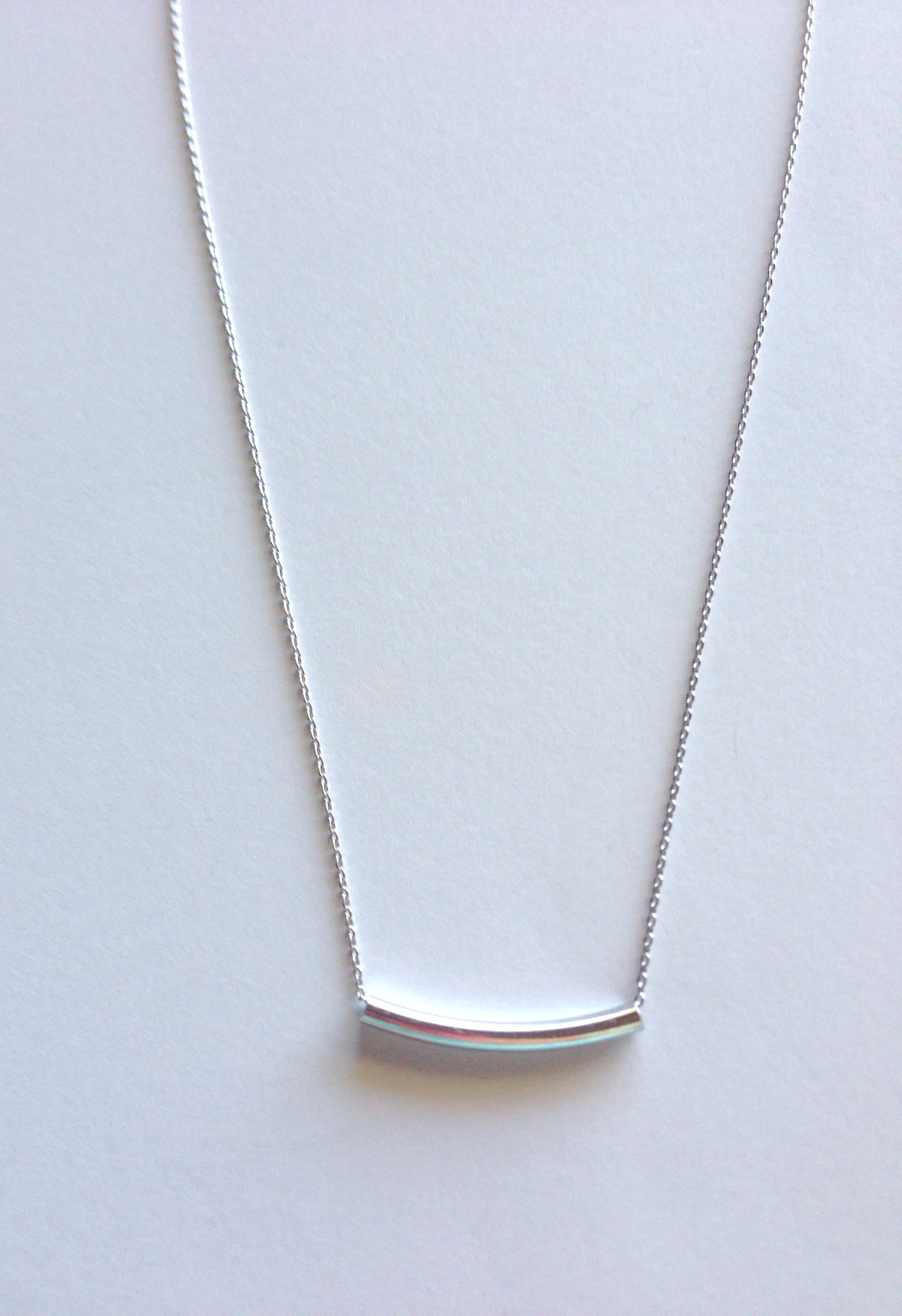 Silver bar necklace reija eden jewelry for Custom made jewelry stores