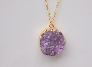 purple druzy necklace 300x220 Home