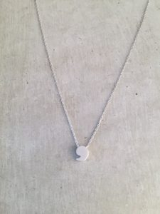 silver comma necklace