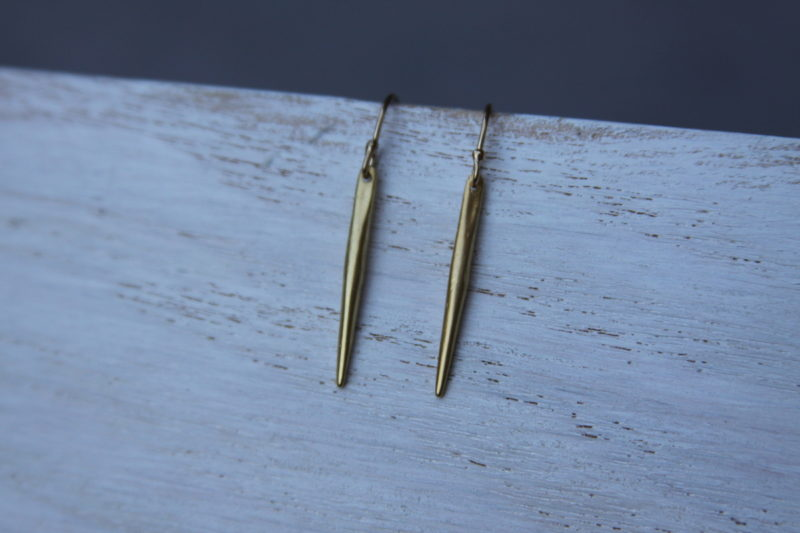 gold spear earrings