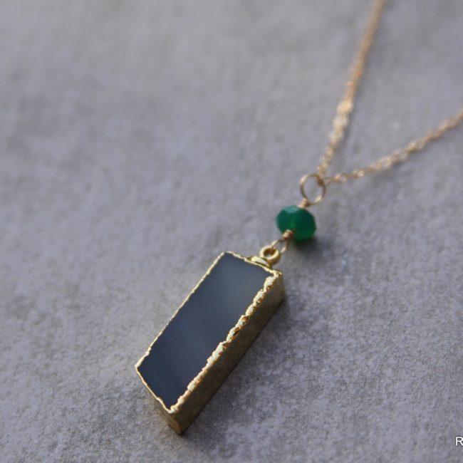 Agate Gemstone Necklace