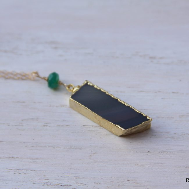 Onyx Gemstone Necklace