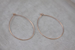 handmade rose gold hoops
