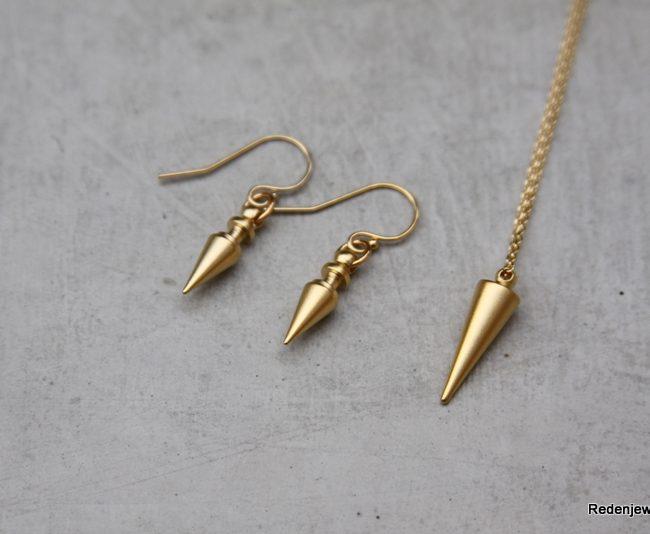 gold spike jewelry