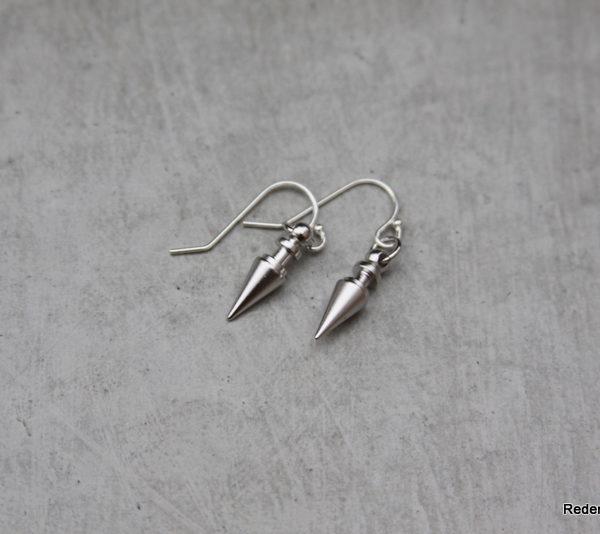 silver spike earrings