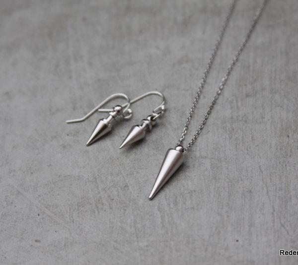 silver spike jewelry