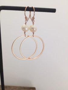 modern rose gold earrings