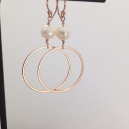 modern rose gold earrings