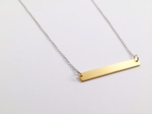 modern gold bar necklace