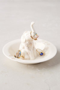 gold glitter jewelry dish