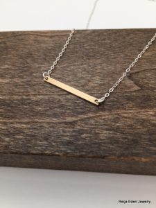 modern bar necklace
