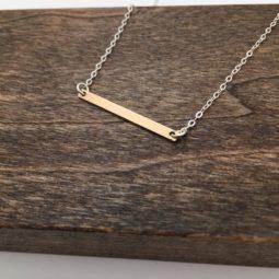 modern bar necklace