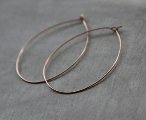 handmade rose gold hoop earrings