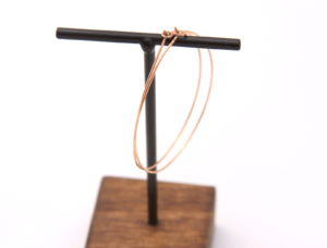 rose gold hoop earrings - handmade modern jewelry