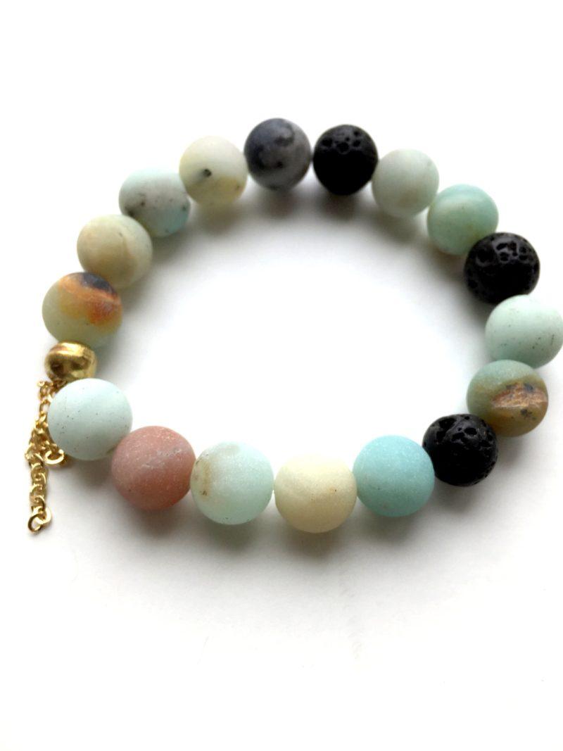amazonite gemstone bracelet - handmade