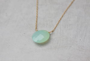 chalcedony gemstone necklace