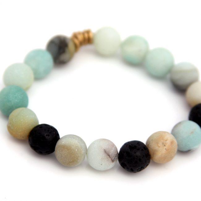 handmade amazonite gemstone bracelet