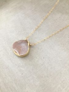 handmade druzy necklace