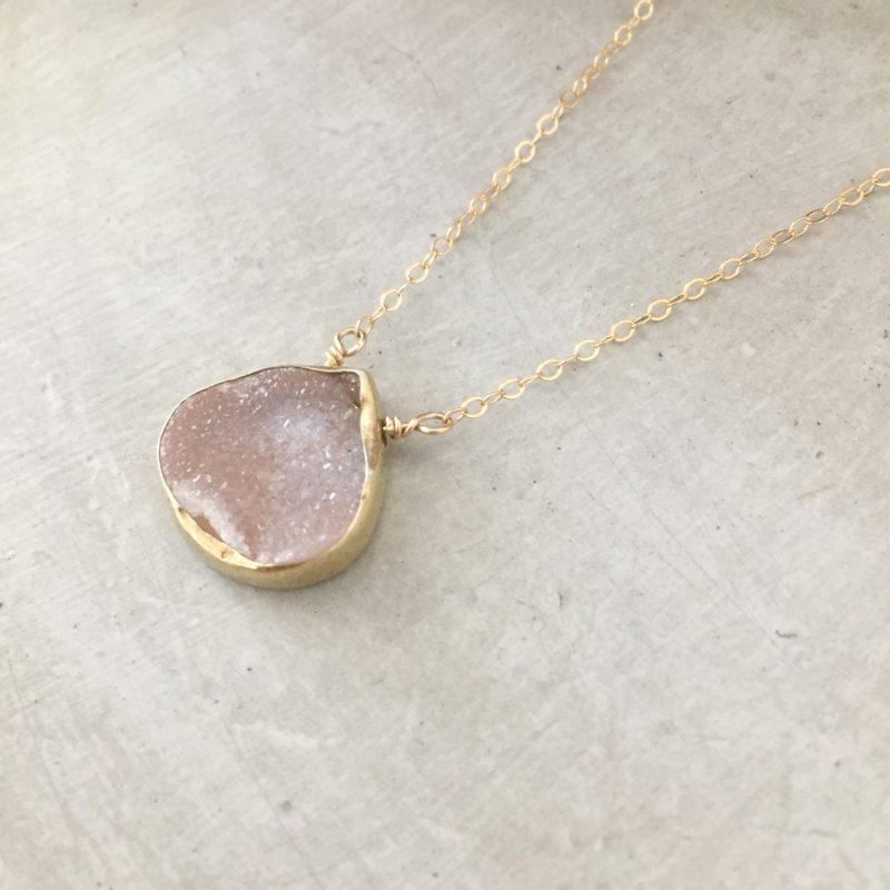 handmade druzy necklace