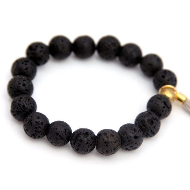 lava bead bracelet - essential oil diffuser jewelry