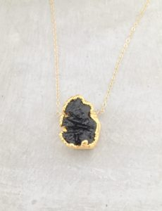 gold lava bead necklace