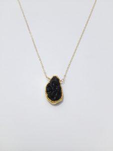 lava bead necklace - essential oil necklace