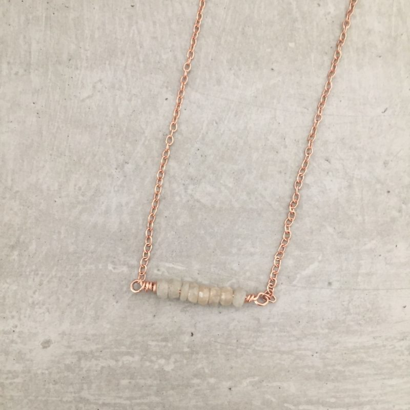 rose gold sapphire necklace