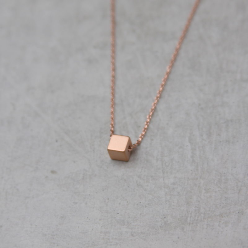 rose gold square necklace