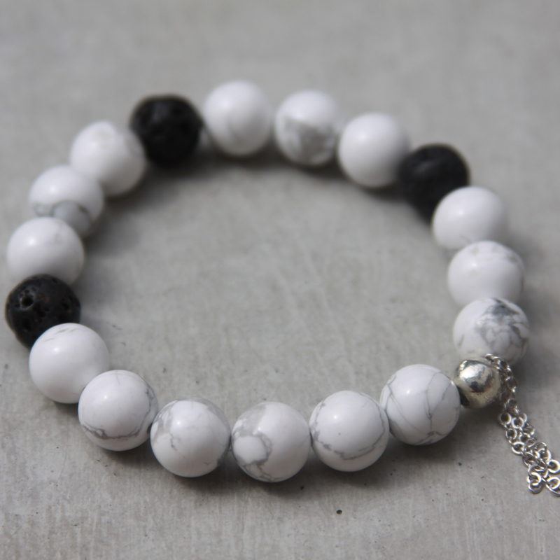 white gemstone bracelet